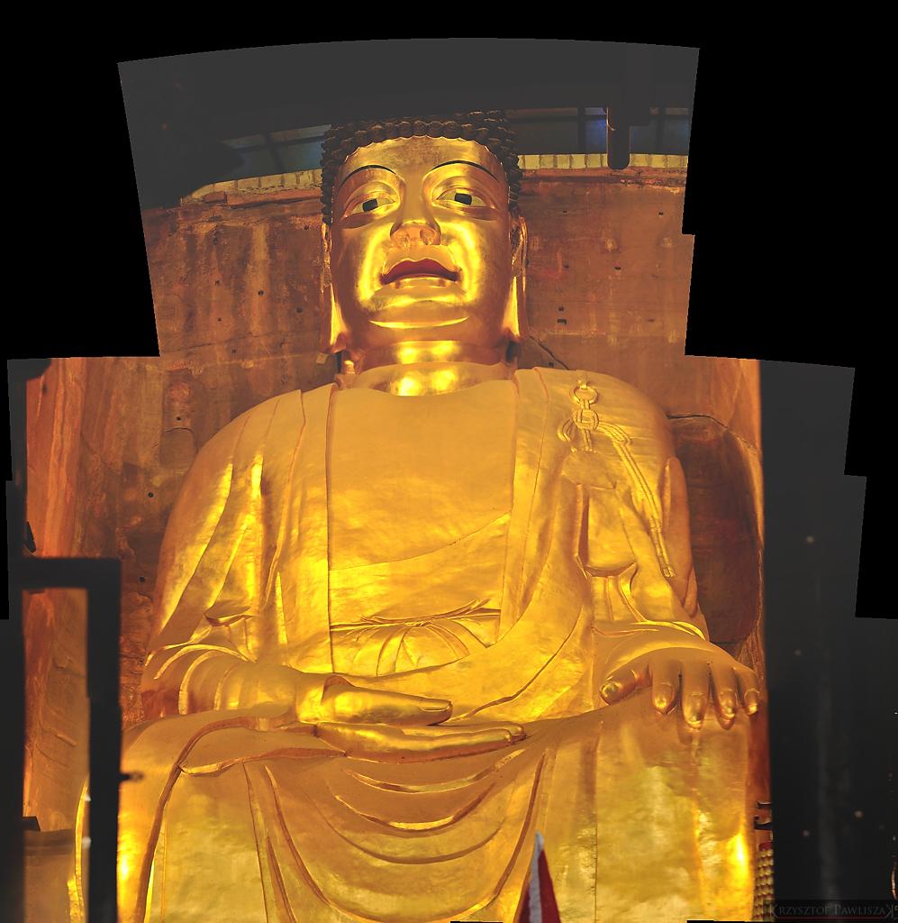 Wielki złoty budda Sakyamuni