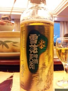 Piwo 雪花, jedno z najpopularniejszych piw w Chinach.